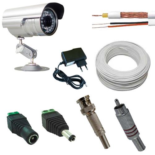 Kit vigilancia cftv camera ir 25 metros 20 mt de cabo - Camera de vigilancia ...